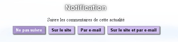 Notification : Actu